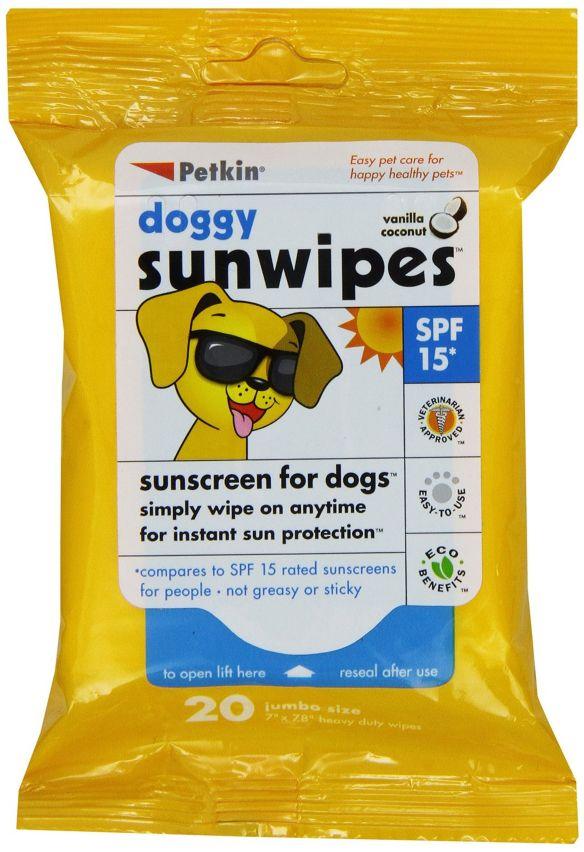 Petkin suncreen wipes